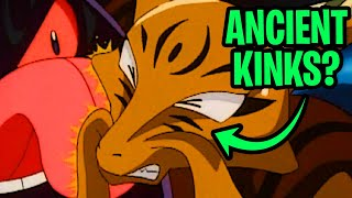 Pokemon WTF Moments (S01E72)   THE ANCIENT PUZZLE OF POKEMOPOLIS   Giant Gengar vs Giant Alakazam