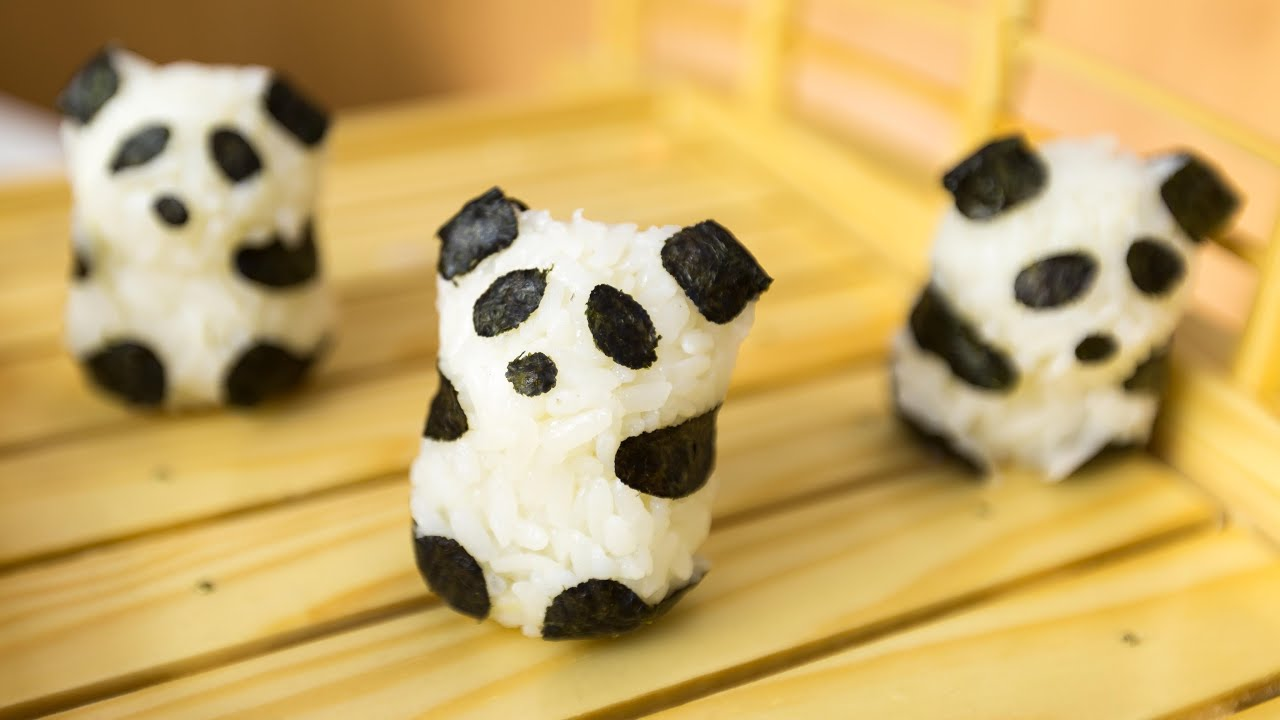 Onigiri Cute Wallpaper How To Make Cute Sushi Panda Bears Youtube