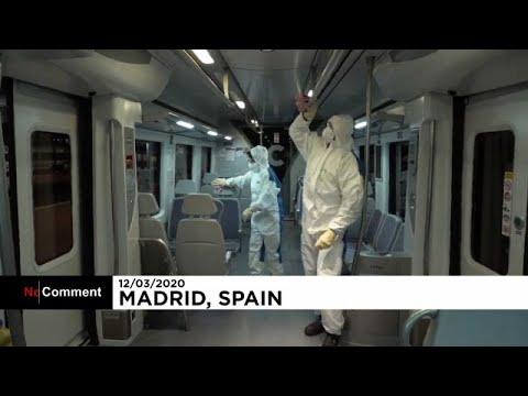 İspanya'da toplu taşıma araçlarında 'bilim-kurgu filmi' gibi koronavirüs temizliği
