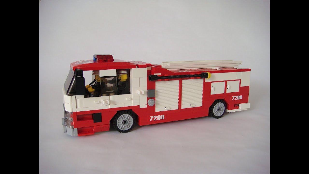 Lego custom Fire Truck ( MOC ) - YouTube