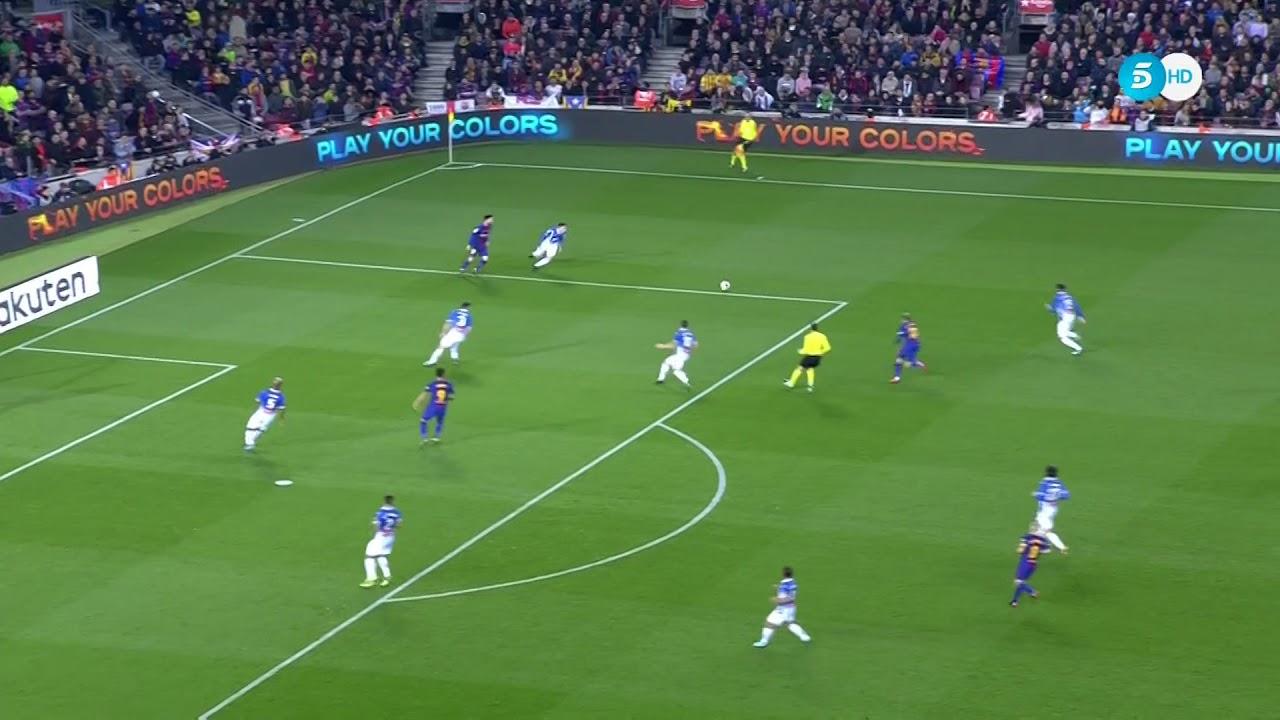 BARCELONA GOALS VS ESPANYOL 2-0