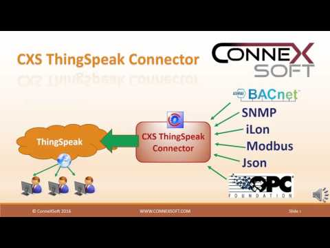 CXS ThingSpeak Connector - YouTube