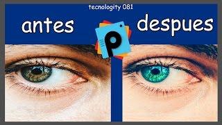 como cambiar el color de los ojos con editor de fotos en android totalmente reales
