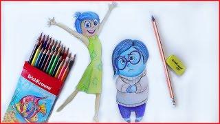Как нарисовать Радость и Печаль из ГОЛОВОЛОМКИ МУЛЬТИК INSIDE OUT how to draw sedness and joy(Друзья,в этом уроке вы научитесь рисовать ПЕЧАЛЬ и РАДОСТЬ с мультфильма