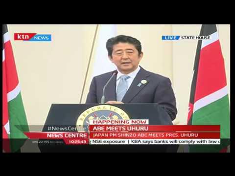 KTN News Centre: Japan PM Shinzō Abe's [FULL SPEECH] during his visit to Kenya