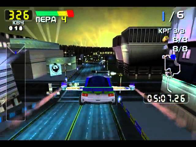 San Francisco RUSH 2049 [Dreamcast] (Circuit mode, Extreme, 240 score) - Real-Time Playthrough