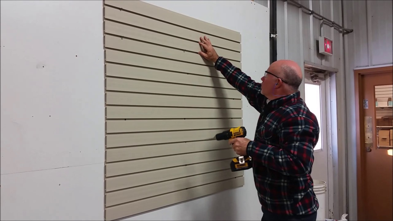 Pvc Slatwall Easy Panel Installation Youtube