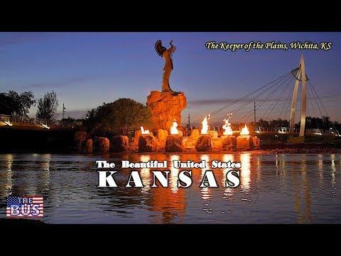 USA Kansas State Symbols/Beautiful Places/Song HOME ON THE RANGE w/lyrics