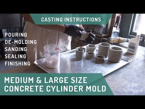 Cylinder Planter Molds - Casting Tips & Tricks for Concrete Homewares