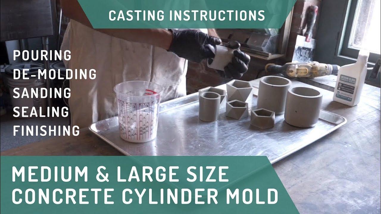 Cylinder Planter Molds - Casting Tips & Tricks for Concrete Homewares