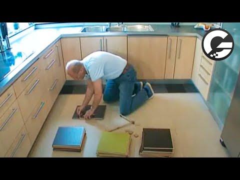l gning af forbo marmoleum click youtube. Black Bedroom Furniture Sets. Home Design Ideas