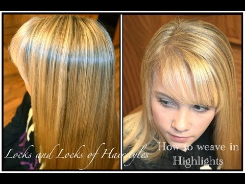 How to weave highlights into hair youtube pmusecretfo Images