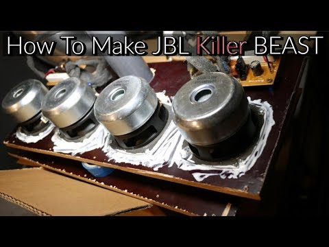 How To Make Bluetooth portable speaker [JBL killer Beast] [DIY]