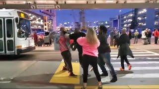 Big Fight at  Los Angeles International airport tom bradley lax