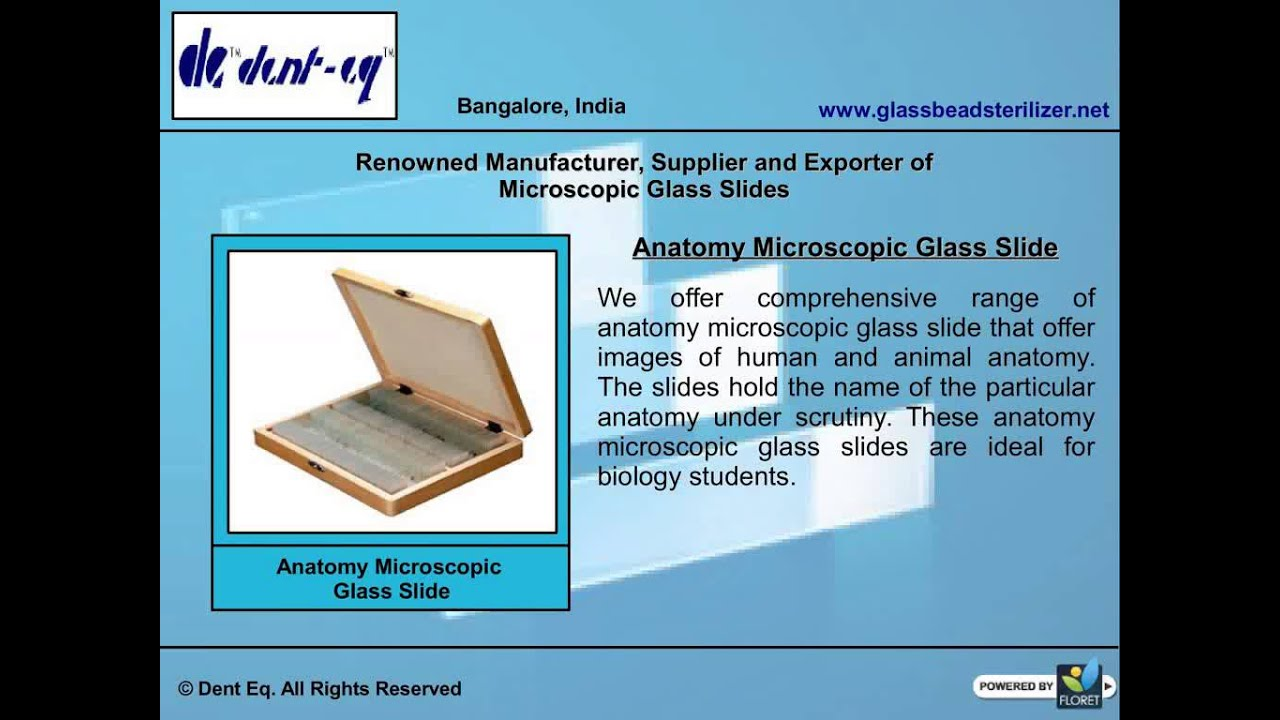 Microscopic Glass Slides Manufacturers Youtube