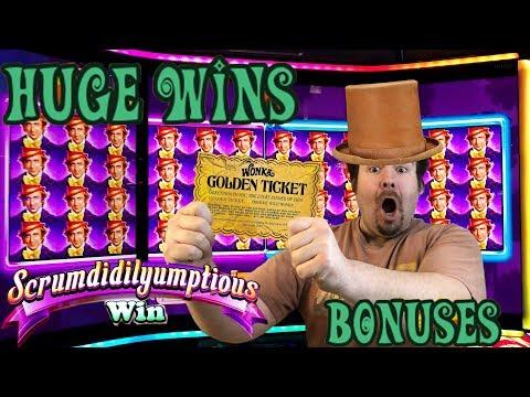 WILLY WONKA - AMAZING WINS AND BONUSES FEATURES Slot Machine