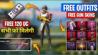 PUBG MOBILE NEW TRICK 27, APRIL | GET 120 UC FREE GET FREE GUN SKINS AND FREE LAGENDARY OUTFITS FREE