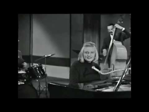 Blossom Dearie - I wish you love + Impro blues (Live french TV 1965)