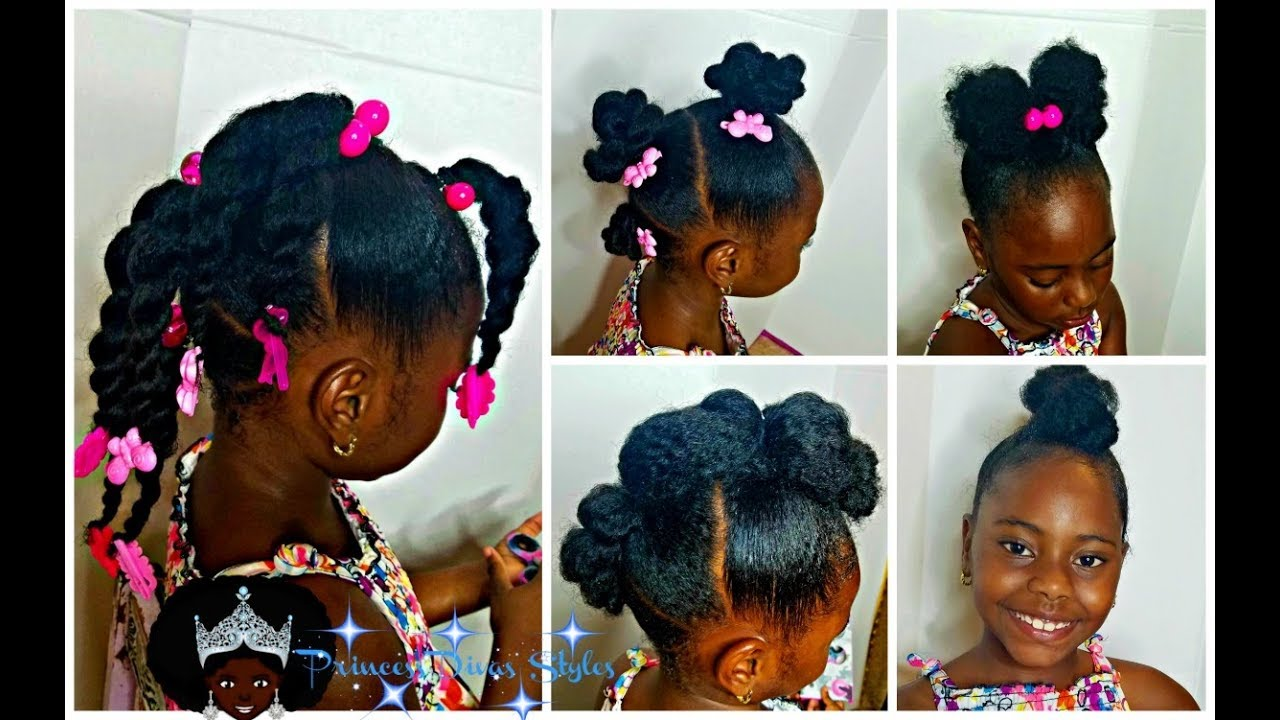 Little Girls | Easy Back To School Hairstyles | 4 Styles 1 Base