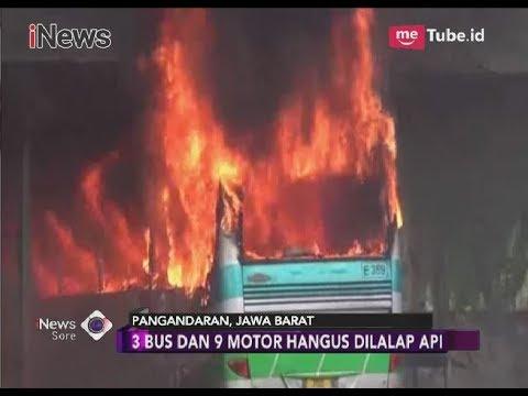 Garasi Pool Bus Budiman Terbakar, 3 Bus dan 9 Motor Ludes Dilalap Api - iNews Sore 13/03
