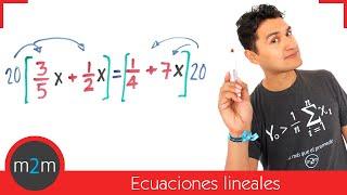 * Ecuaciones de 1er grado + comprobación (parte 1)