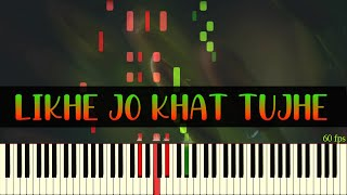 Likhe Jo Khat Tujhe | Piano tutorial - Sanam