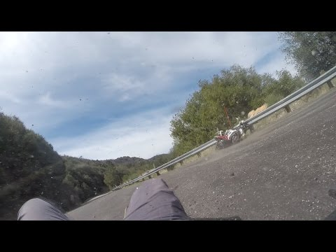 Triumph Daytona R Crash at Angeles Crest!