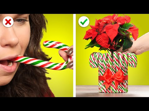 Christmas Tree Decor with Edibles! 10 Candy Decorations and More DIY Christmas Ideas