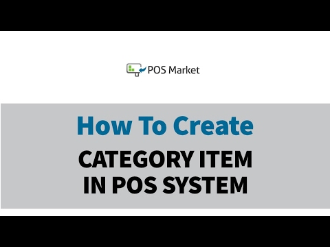 How To Create Category Item In POS System