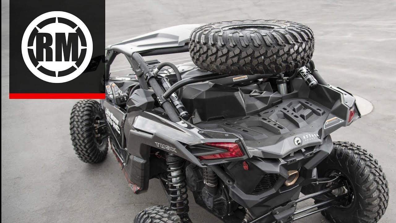 Fits Can-Am Maverick X3 X DS Turbo R 2017-2019 Tusk Spare Tire Carrier
