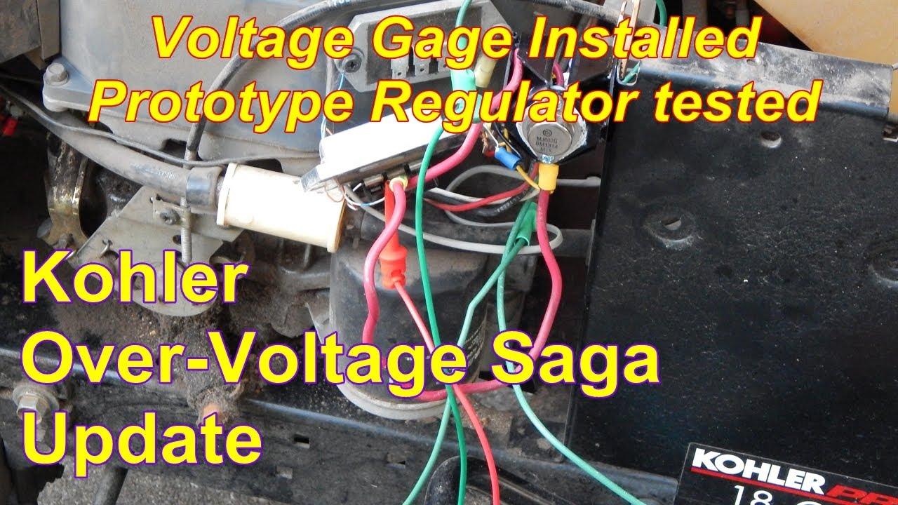 Kohler Over Voltage Saga Testing The Re Regulator