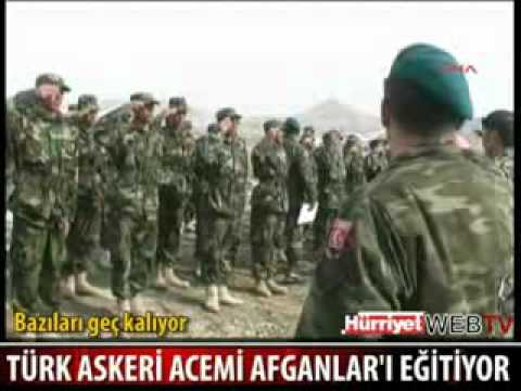 Türk Askeri Acemi Afganistan li askerleri Egitiyor ,afgan soldiers in training