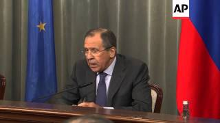 Council of Europe Secretary General in Moscow with Lavrov; comments