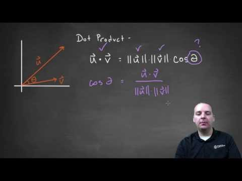 Using Dot Product to Find the Angle Between Two Vectors