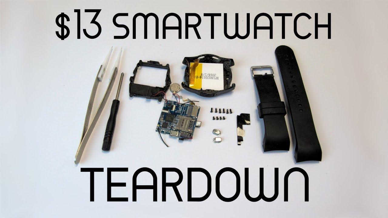 Store-brand smartwatch (Hykker/V8) teardown and analysys