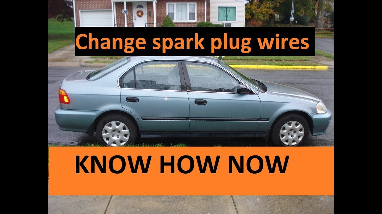 replace spark plug wires 1996-2000 honda civic