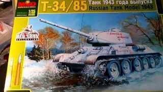 MQ-3505 Танк модель Т-34/85  1943 119 отдельного  танкового полка Украина, март 1944