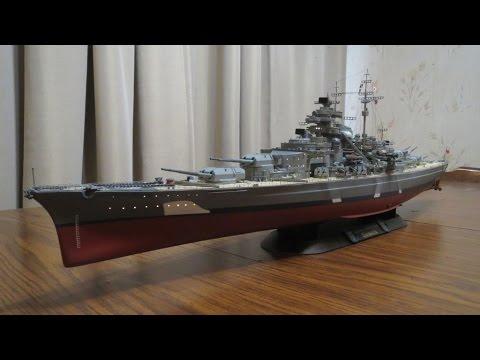 Revell 1:350 Scale DKM Battleship Bismarck Lighted Model Finished