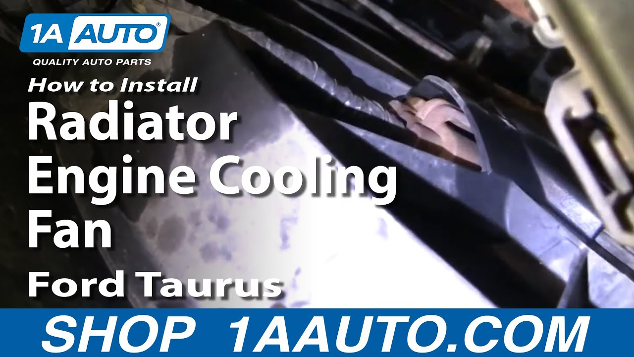 How To Install Replace Radiator Engine Cooling Fan Ford 9607 Taurus 1AAuto  YouTube