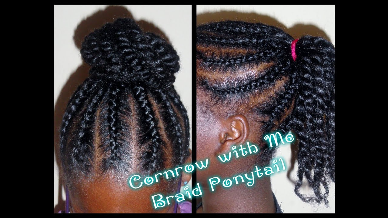 162 - Child Hair Care (Braided Ponytail Bun) - YouTube