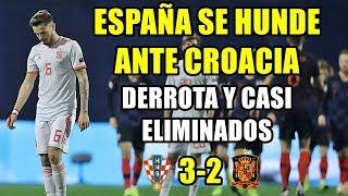 ESPAÑA SE HUNDE ANTE CROACIA (3-2): DOLOROSA DERROTA Y CASI FUERA DE LA UEFA NATIONS LEAGUE