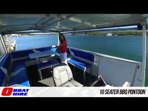 O Boat Hire - 10 Seater BBQ Pontoon