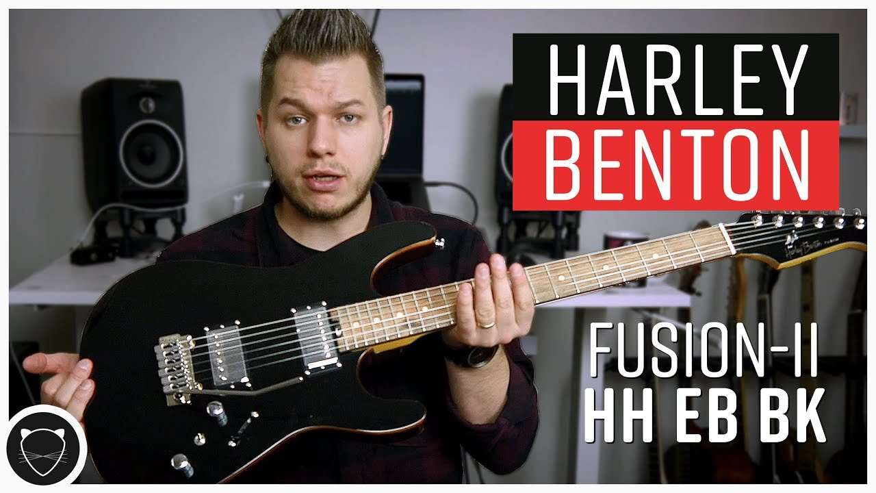 Best Budget Guitar I Ve Played Harley Benton Fusion Ii Hh Bk Review Youtube