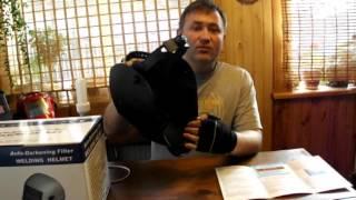 Видео тест маска сварщика хамелеон Optech S777A 2 сенсора(S777A Optech Сварочная маска Хамелеон для профессионалов Б/П Купить маску для сварщика S777A