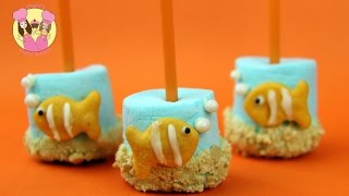 NEMO MARSHMALLOW POPS - Clownfish Finding Nemo Aquarium Mallow Pops Very Easy