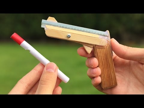 Download Youtube: How to Make Amazing DIY Gun That Shoots Using Clothespin and Popsicle Sticks