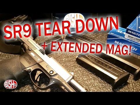 Ruger SR9 & SR9c disassembly + 32rd Extended Mag!