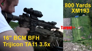 800 yards with xm193 bcm bfh 16 ar15 and trijicon acog ta11d 3 5x