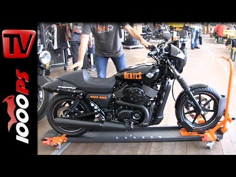 Fahrbarer Motorradständer kann nicht umfallen!