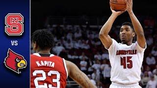 NC State vs. Louisville Men's Basketball Highlights (2016-17)